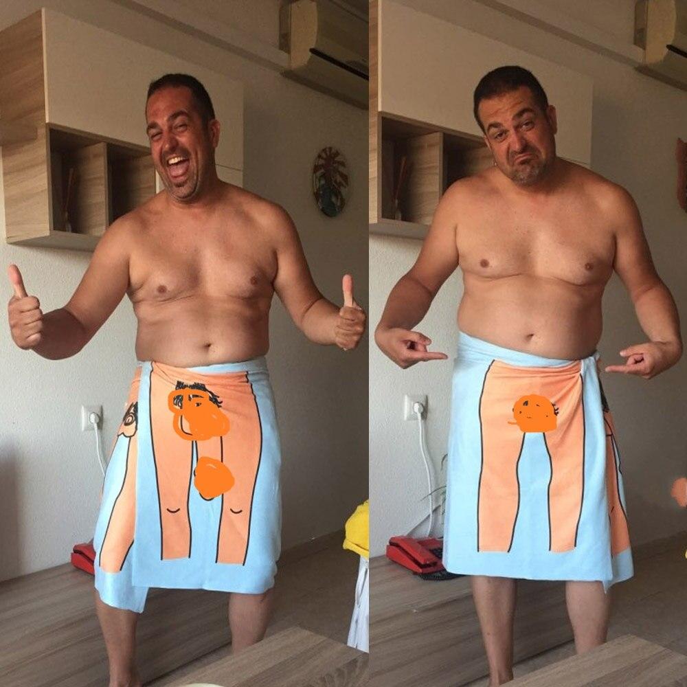 مثير المرأة رجل حمام الشاطئ منشفة الكرتون نمط ستوكات الإبداعية منشفة مطبوعة الحمام في الهواء الطلق السفر الرياضة سترينغ المناشف