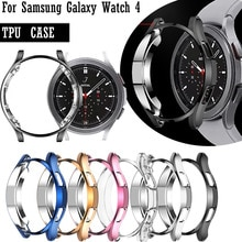 Screen Protective Watch Case For Samsung Galaxy Watch 4 Classic 42MM 46mm Full Protector Cover Shockproof TPU Transparent Shell