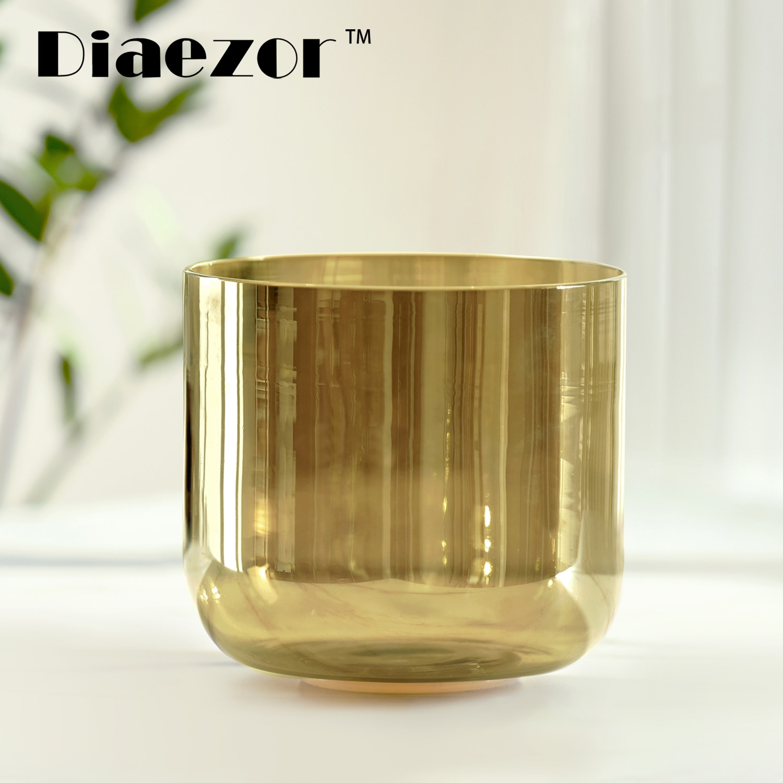 Diaezor 7 Inch 432Hz Clear Crystal Singing Bowl Cosmic Light Chakra Alchemy Magic Color Quartz musicol crucible for Healing medi enlarge