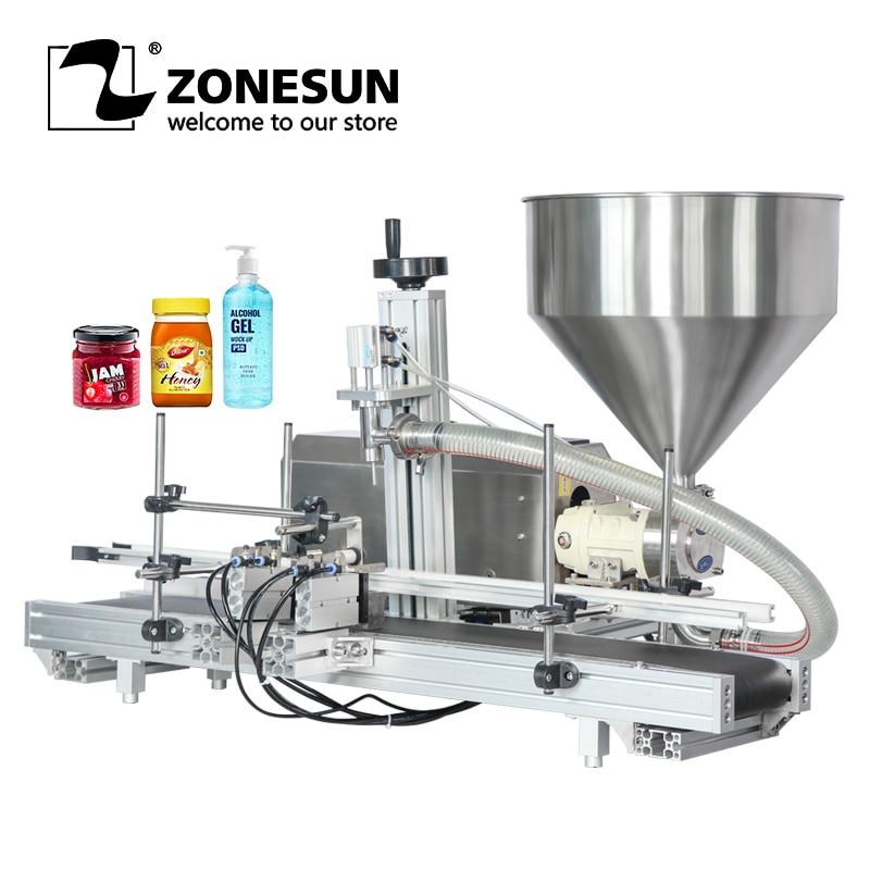 ZONESUN ZS-DTGT900 Semi Automatic Jam Sauce Cream Paste Food Rotor Pump PasteFilling Machine