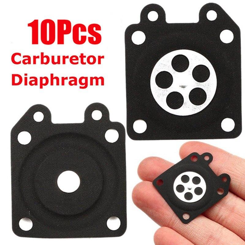 Diafragma de dosificación para carburador de motosierra, 10 Uds., negro, 28x33mm, para Walbro 95-526 95-95-95-95-9