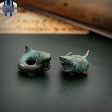 Original géant dent requin grand requin blanc EDC parapluie corde couteau pendentif personnalisé Vintage fait main bricolage Paracord perles