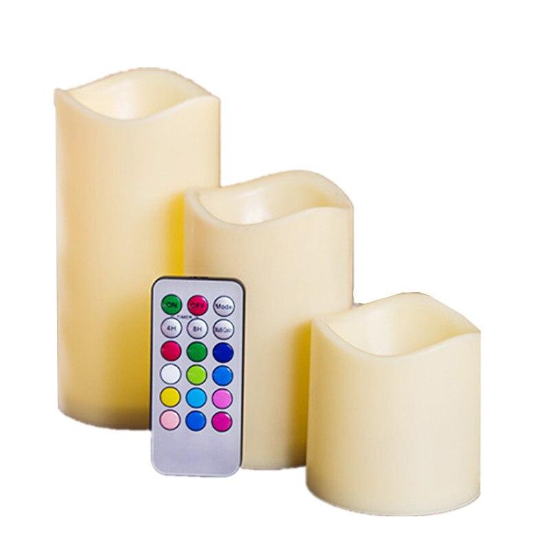 12 bunte Led Kerze Elektronische Wachs Flamme Led Rauchfreien Kerze Led Tee Licht Partei Dekorative Gefälschte Kerzen Mit Control