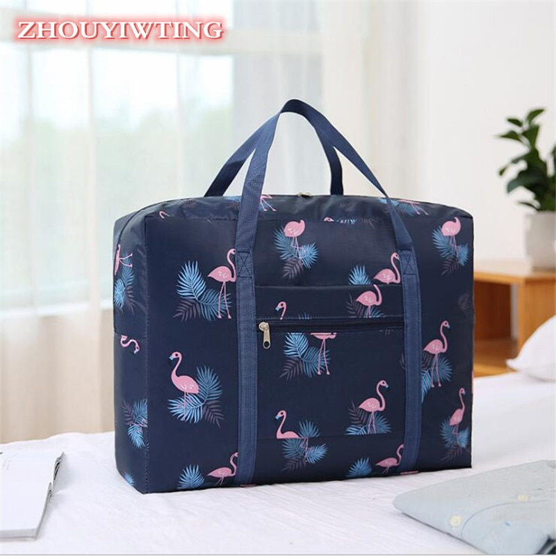 Nylon Waterproof Travel Bag Women Men Unisex Large Capacity Folded Duffle Bag Organizer Packing Cubes Luggage Storage Tote Pouch etya cute travel bags cosmetic bag multifunction men and women pvc luggage packing organizer large capacity clothes wash pouch