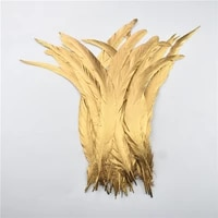 100pcs gold silver dipped rooster tail feathers for crafts 12 1430 35cm natural rooster feathers carnaval plume decoration diy