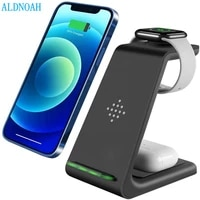 qi 15w fast charge 3 in 1 wireless charger for iphone 13 12 11 pro max 8 charger dock for apple watch 7 6 5 4 airpods pro stand