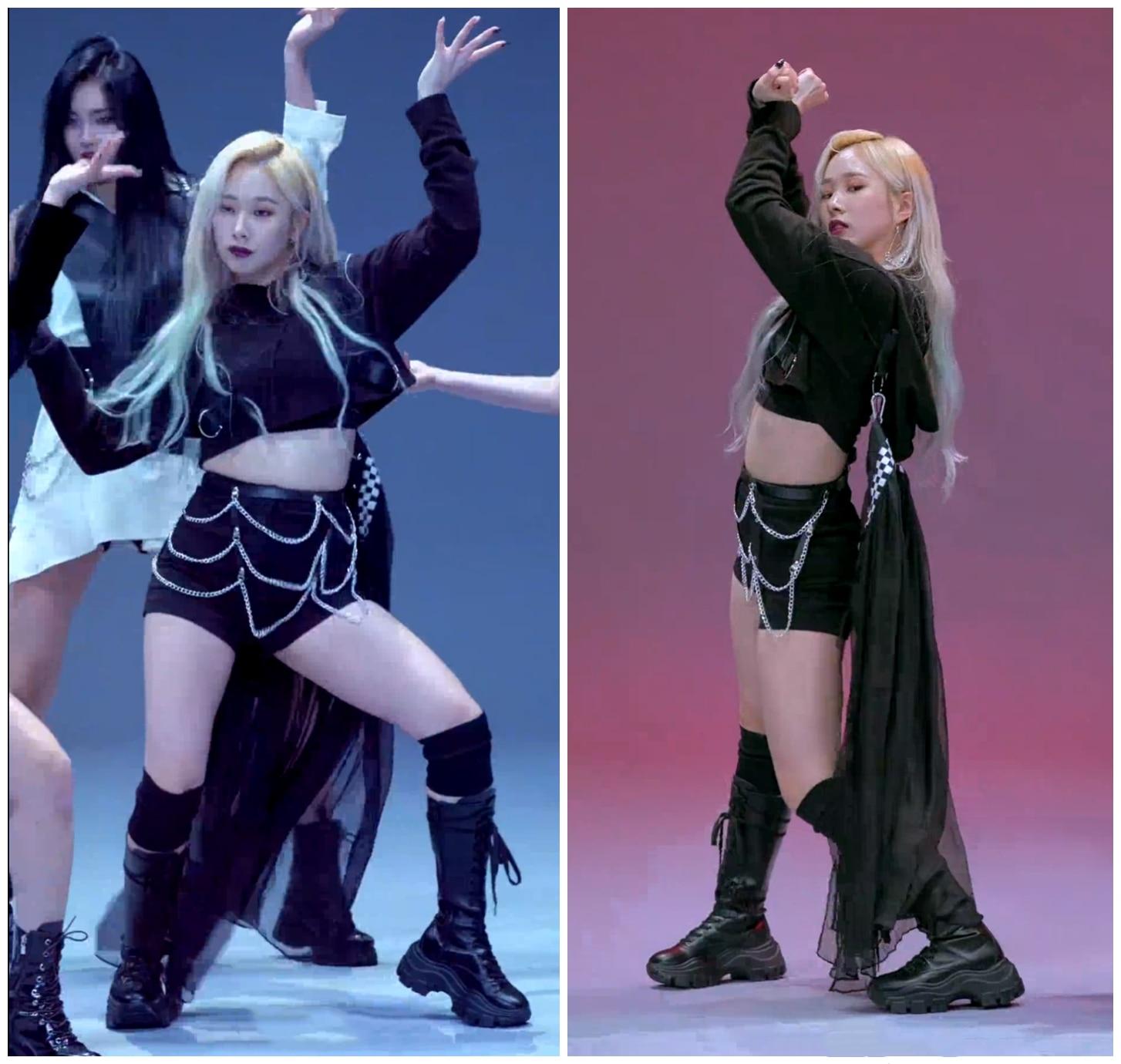 Kpop كوريا فتاة مجموعة الجاز الرقص تظهر أسود طويل الأكمام البلوز هوديس بلوزات بلوزات + مثير ضئيلة عالية الخصر السراويل النساء مجموعات