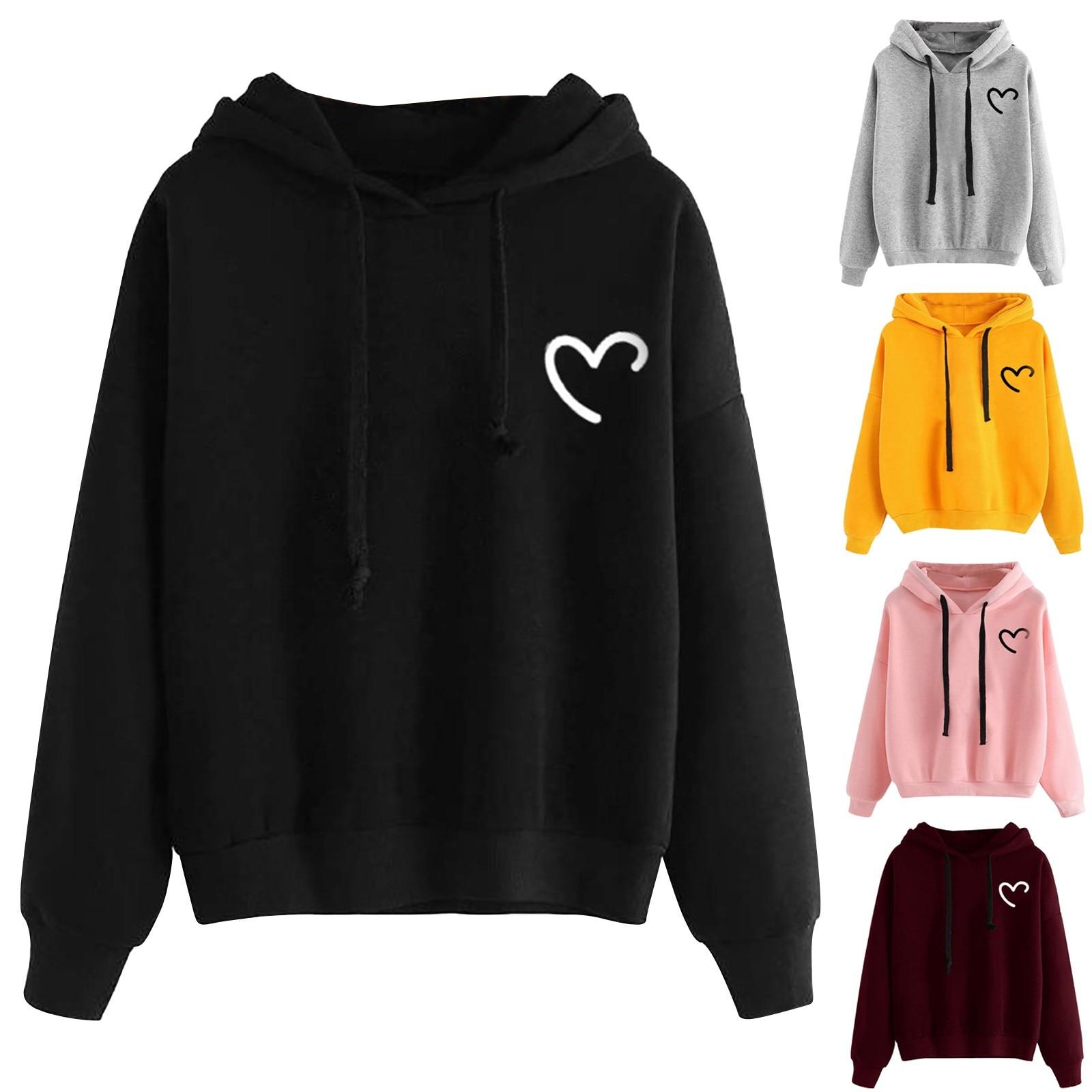 Clothing women 2020 Brand Female Long SleeveLove printing Hooded Толстовка Hoodie Tracksuit