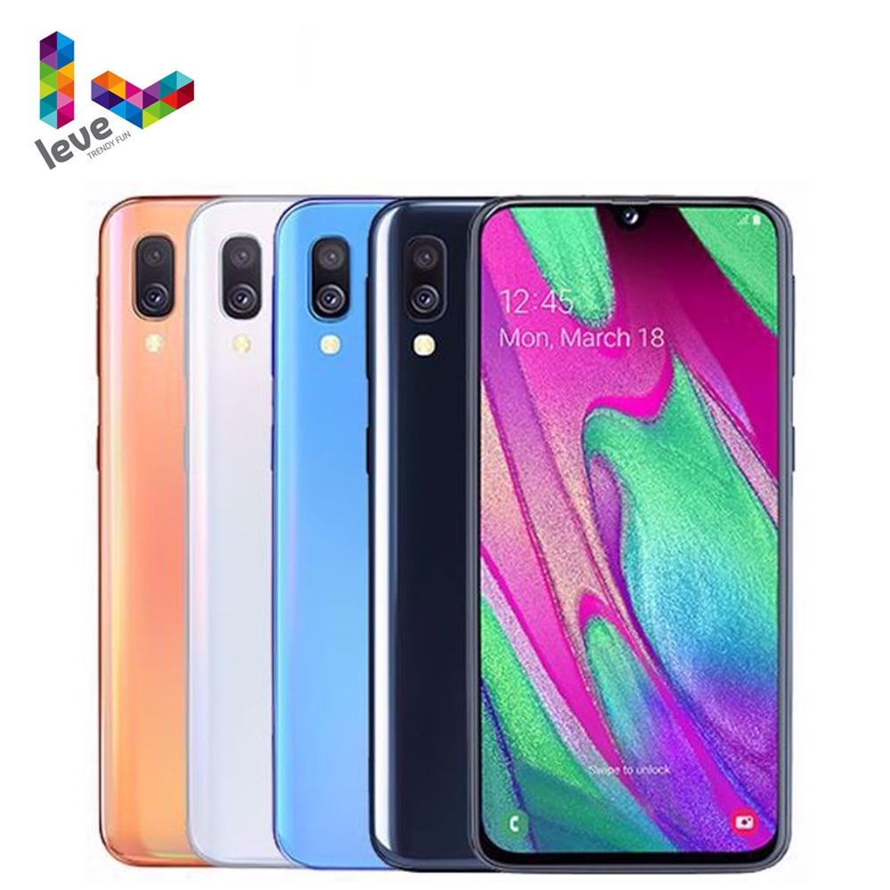 Перейти на Алиэкспресс и купить Samsung Galaxy A40 A405F/DS 2SIM разблокирован мобильный телефон 5,9 дюйм4 Гб оперативной памяти, 64 Гб встроенной памяти, Octa Core, 2 камеры 16MP 4 аппарат не привязан ...