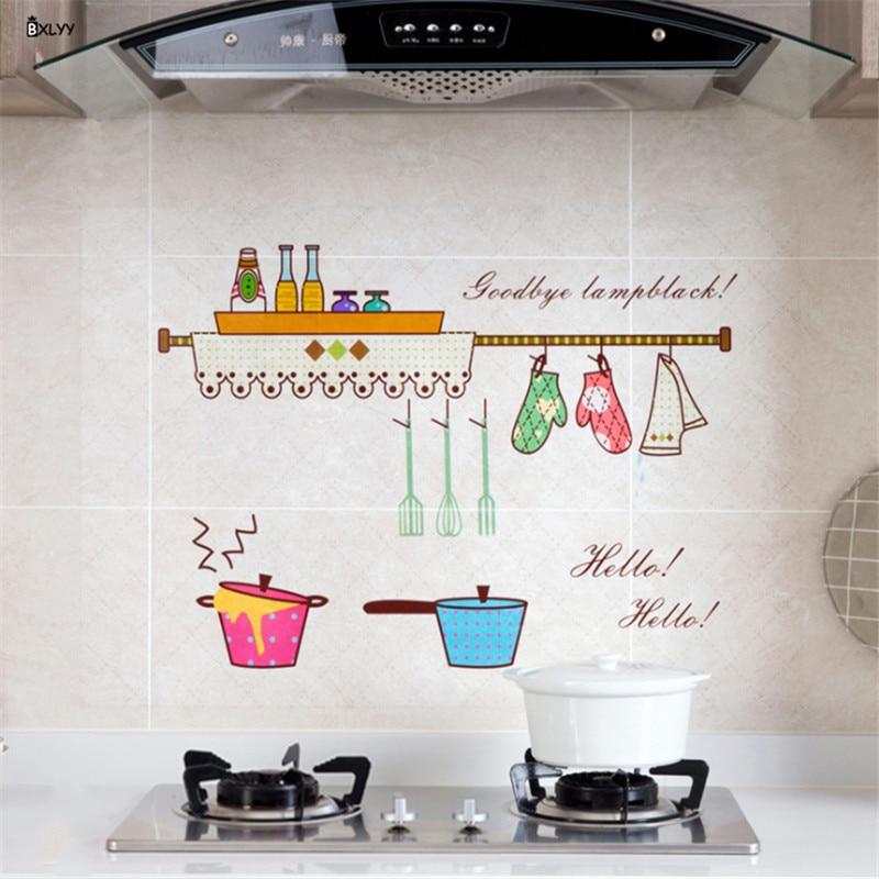Nuevas pegatinas de aceite de cocina 60*90 cm, pegatinas de temperatura altas transparentes, accesorios de cocina, Gadgets, decoración del hogar, herramientas de cocina s.8z