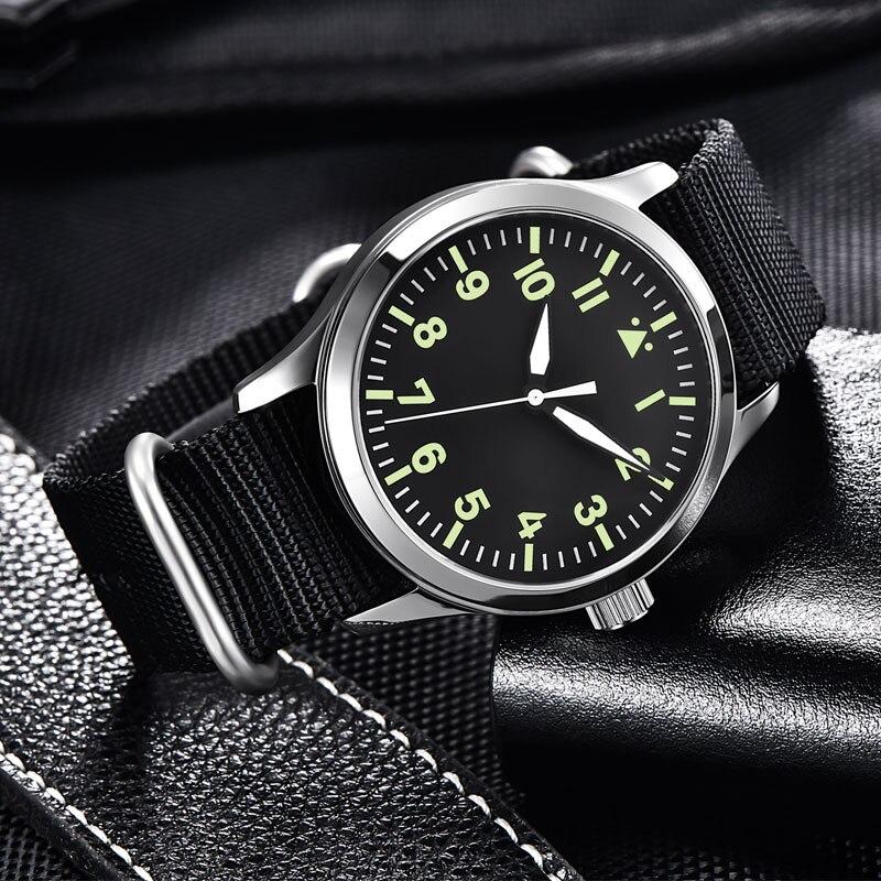 Corgeut-ساعة رجالية ميكانيكية أوتوماتيكية مع قرص معقم ، ساعة يد رجالية مع مينا معقمة من الياقوت والزجاج ، تصميم رياضي ، أوتوماتيكية ، 42 مللي متر