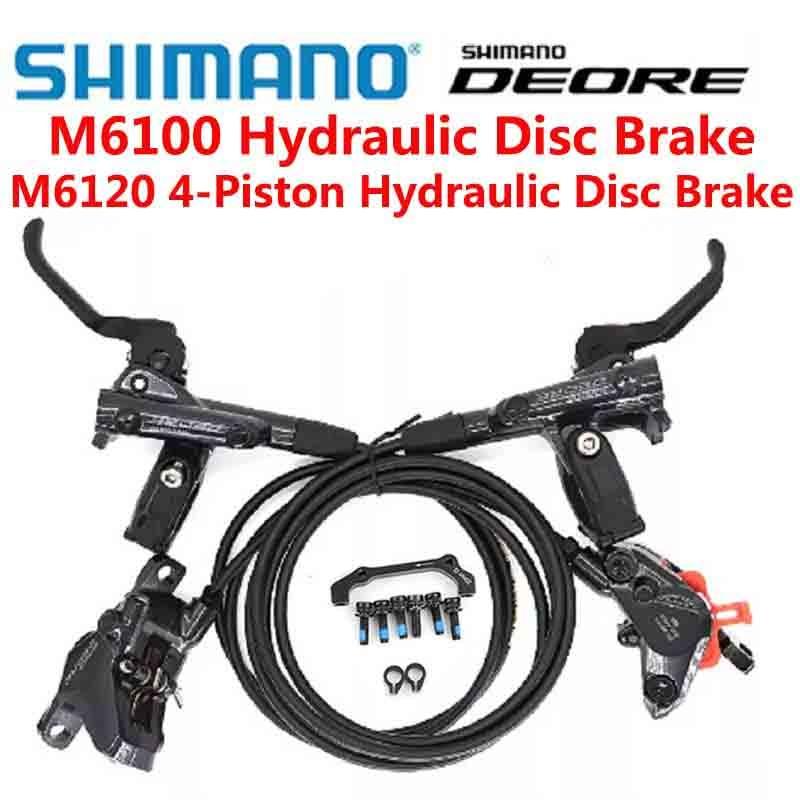 SHIMANO DEORE M6000 M6100 M6120 4 مجموعة مكابح المكبس DEORE الفرامل 850-1450 الدراجات الجبلية الأمامية والخلفية الصحن الهيدروليكي الفرامل