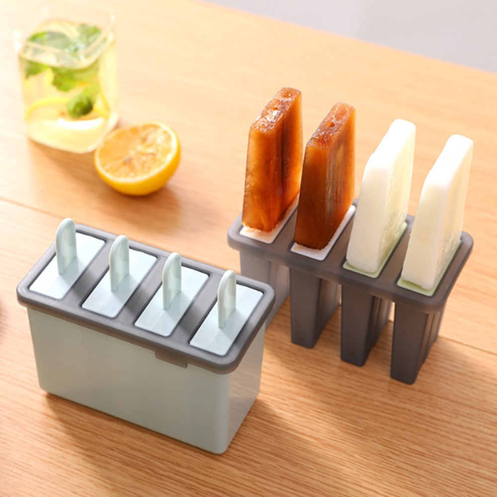 Hausgemachte DIY Kreative Kunststoff Eis Popsicle Form-Form Tray Maker Gitter Deckel Gefrorene Makers