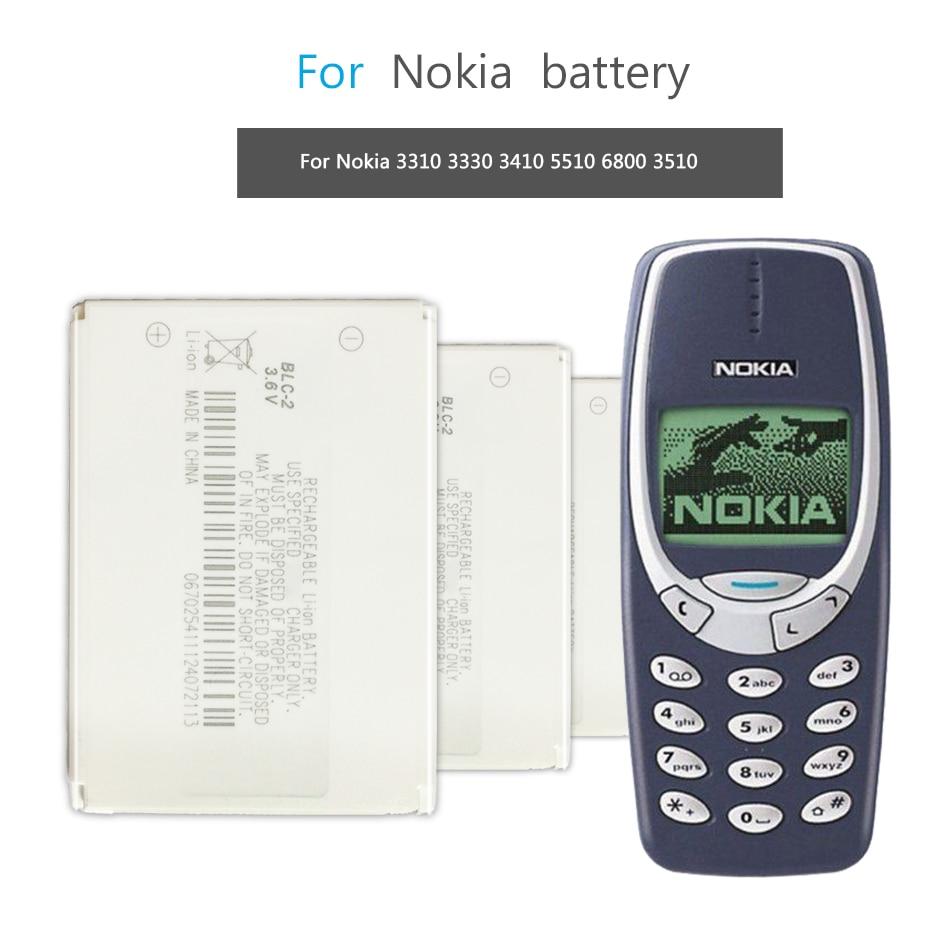Mobile Phone Battery For Nokia 3310 3330 3410 3510 5510 3530 3335 3686 3685 3589 3315 3350 3510 6650 6800 Battery BLC-2 800mAh