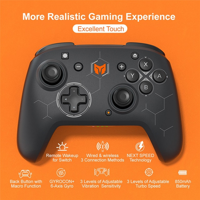 BIGBIG WON Elitist S Wireless Gamepad Controller Joystick for Nintendo Switch PC Android Game Console with 6-Axis Gyro Handle 2