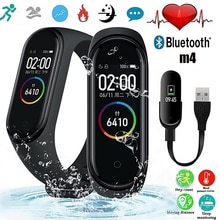 The Mens' Watches M4 Smart Watch Bracelet Call Message Reminder Heart Rate Blood Pressure Monitor Pe