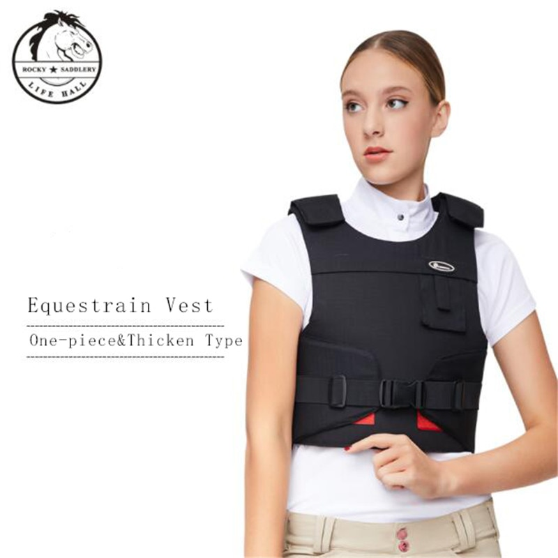 Cavassion Equestrian Thicken Armor and One-pice Detachable Adualt Security Vest when Riding Horses