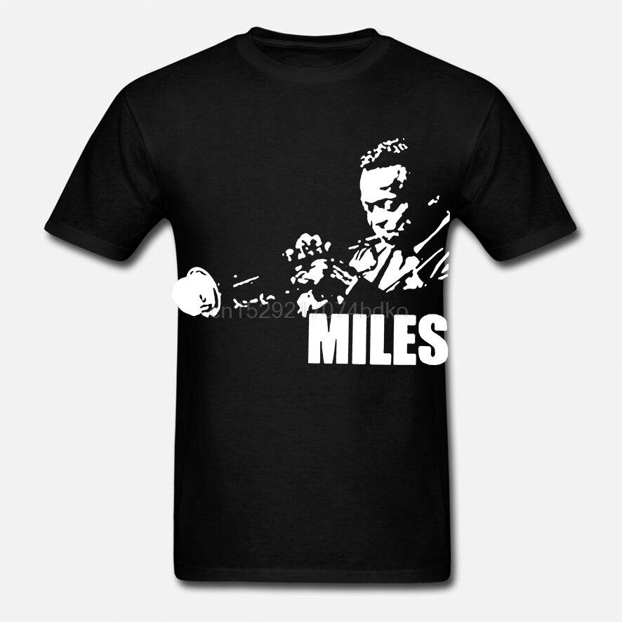 Camiseta para hombres de Miles Davies. Camiseta impresa con pantalla a mano. ¡Gran calidad! Muy suave Música Jazz latino Pop Prog trompeta