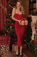sexy red strip midi 2021 new summer women bandage dress red white spaghetti strap bodycon dresses club party vestido