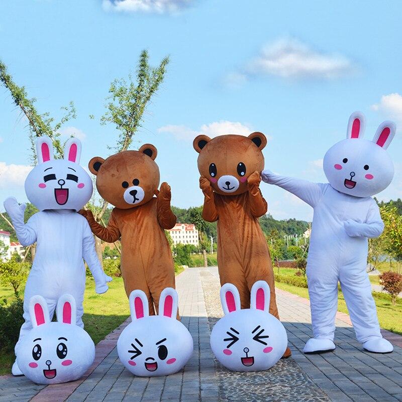 Nette Bär Kani Kaninchen Maskottchen Kostüm Anzüge Cosplay Party Spiel Kleid Outfits Werbung Karneval Halloween Weihnachten Ostern Festival