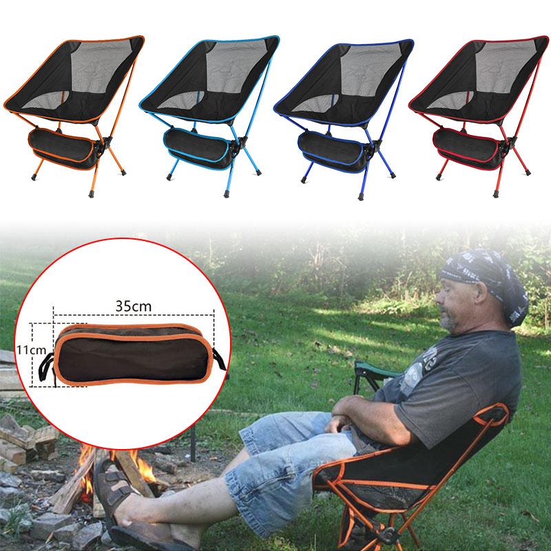 Сверхлегкий складной стул для путешествий, сверхпрочный, с высокой нагрузкой, напольный стул для кемпинга, портативный, пляжный, для пешего ...