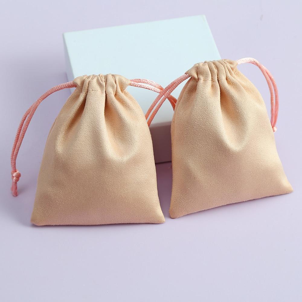 50 шт. бархатный замшевые мешочки упаковочные коробки для ювелирных изделий Дисплей фланелевой кулиской сумочки для упаковки подарков и пак...