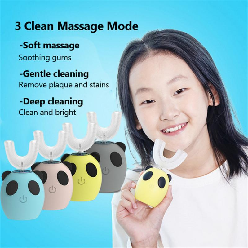 electric sonic toothbrush heads Electric Toothbrush Head Sonic Clean Replacement Toothbrush Heads Silicone Brush Teeth Heads 360 Degree U Type Automatic