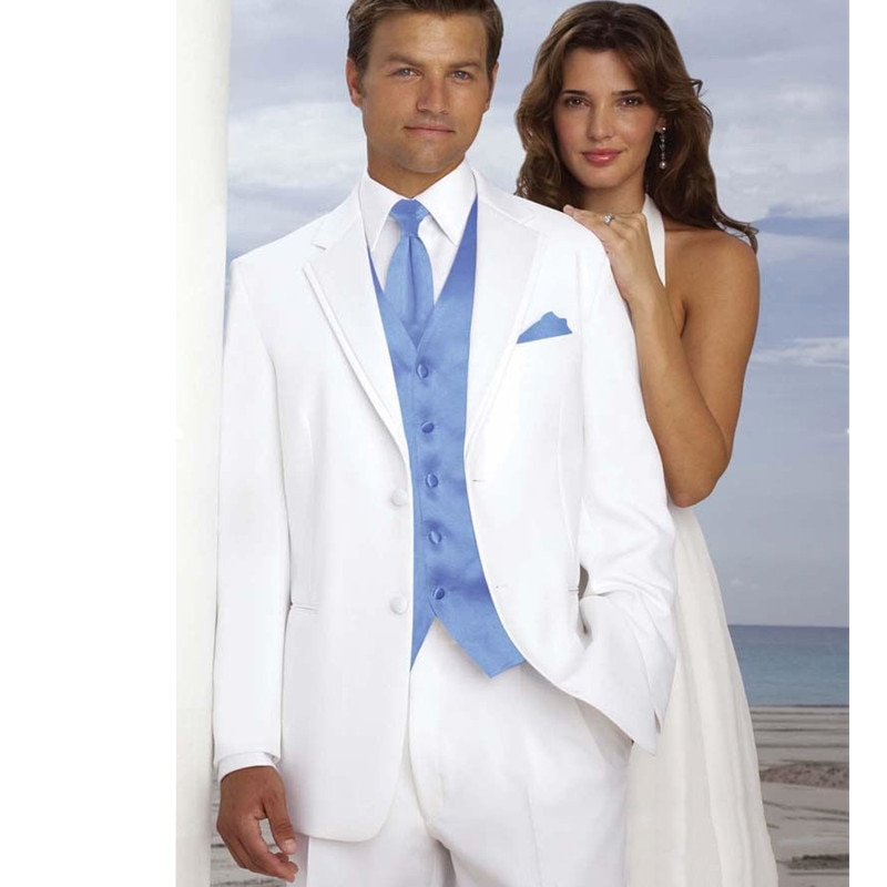 بدلة زفاف للرجال, لباس رسمي رجالي لحفلات الزفاف (معطف + سروال + سترة + ربطة عنق)