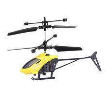 Jouet robot pour enfants mini drone RC 2CH volant Mini RC infrarouge Induction hélicoptère clignotant lumière jouets cadeau de noël