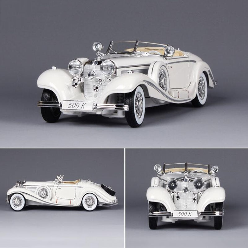 Car Model 1/18 Scale Metal Alloy Diecasts 500K Classic vintage 1936 auto car model Vehicles Toys F Kids gift Collection display