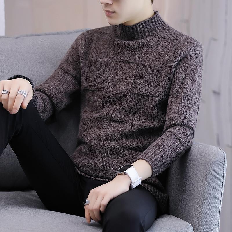 Зимние мужские толстые кашемировые свитера, водолазки, мужские свитера, облегающие свитера, мужские классические шерстяные ткани