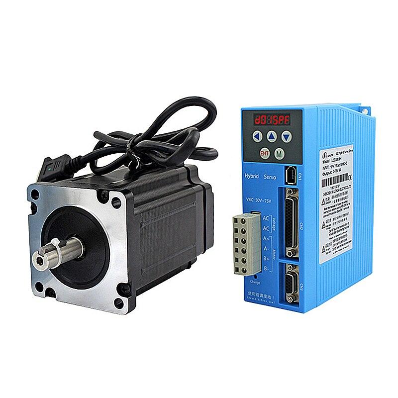 Geschlossen-Schleife NEMA34 Stepping Motor Drive Kit LCDA808H + 86mm motor 2Phase 6A 3 ~ 12Nm für CNC Router gravur Draht-abisolieren Maschine