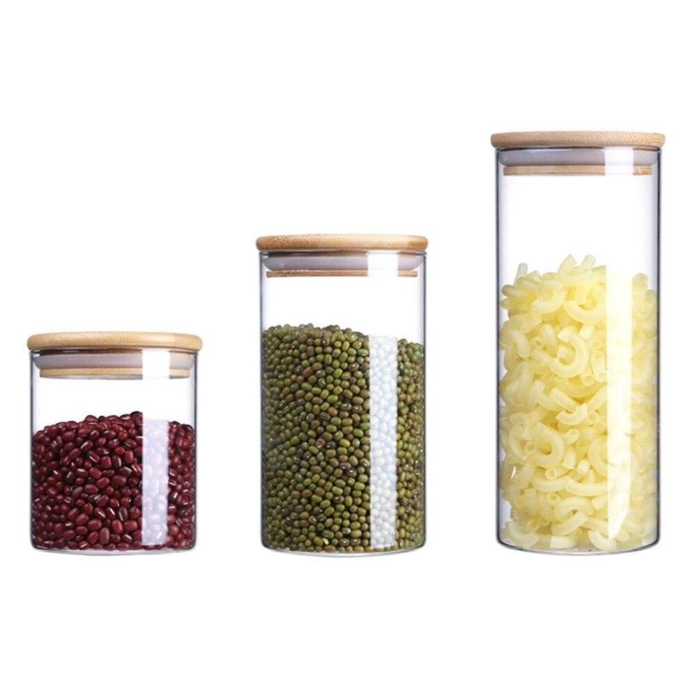 Práctica botella de almacenamiento de cocina tamaño portátil tienda comida ingrediente dulces galletas refrigerador Clasificación, almacenaje tarro
