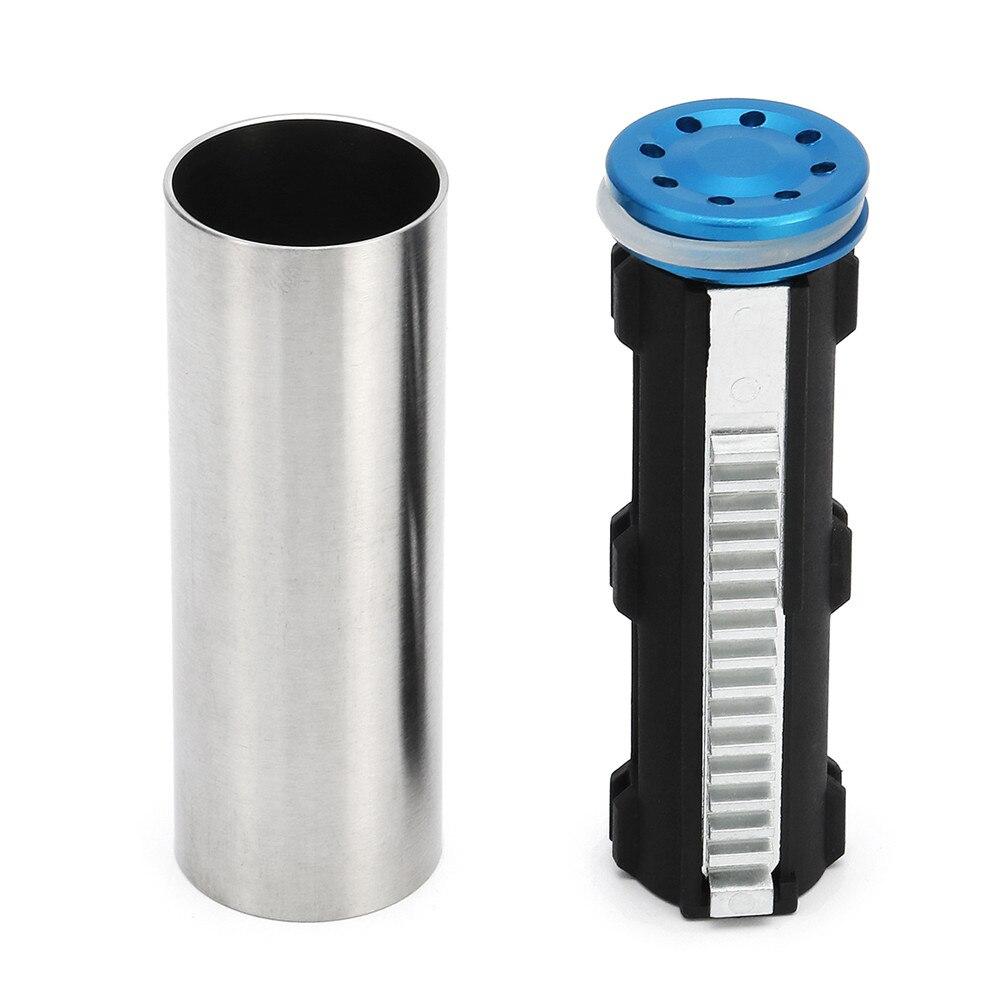 Mejora del cilindro de la cabeza de la escalera del diente de acero para JM Gen8 M4A1 Gel Bola de chorro de agua Gu n accesorios de repuesto escalera