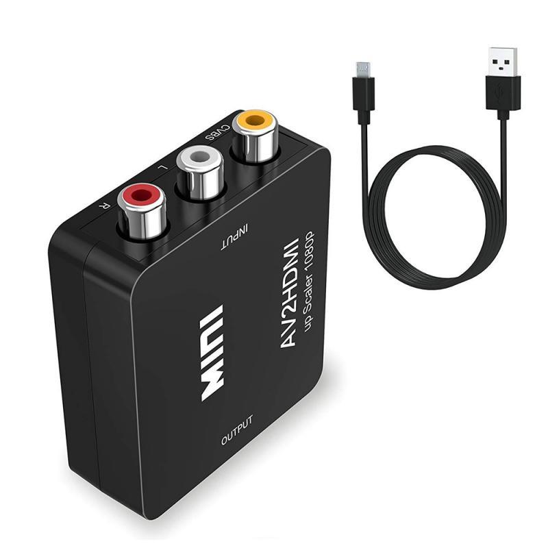 Adaptador de vídeo RCA a convertidor, AV CVBS, 720P, 1080P, para Wii...