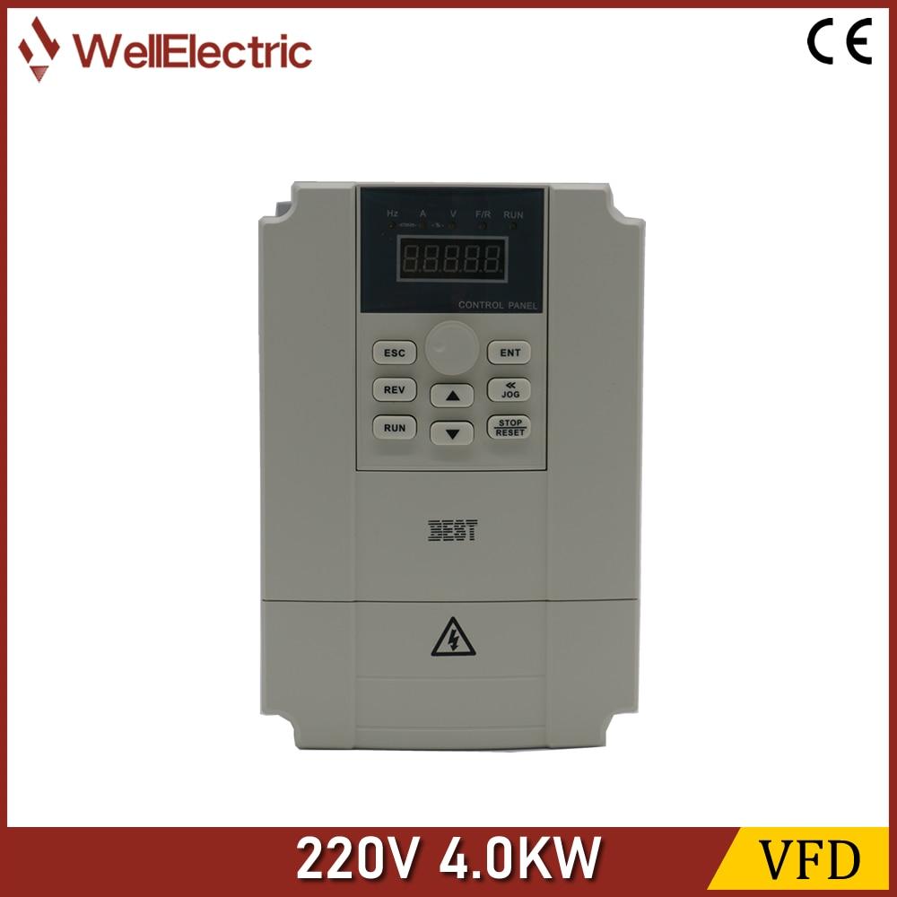 VFD Inverter 220V 4.0KW, لالة نقش الأخشاب