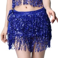 17 colors women bellydance clothing accessories tassel belts 4 rows strips rectangle belly dance hip scarf sequins fringes belt