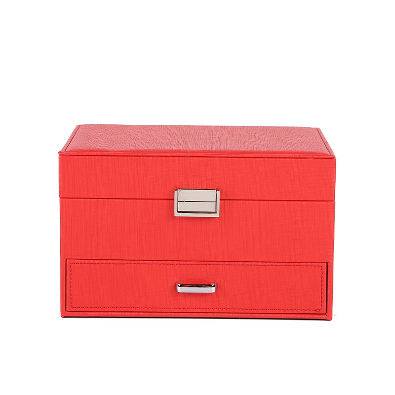 Classic simple cosmetics jewelry storage box double-layer drawer decoration box home simple jewelry box