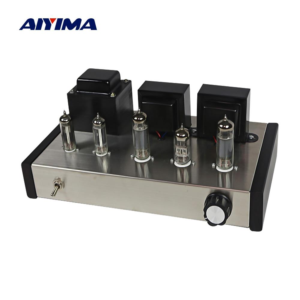 AIYIMA Amplificador Audio Clase A tubo Amplificador de potencia tubo de vacío profesional Amp 6n2 6p1 Amplificador de altavoz de sonido estéreo Hifi