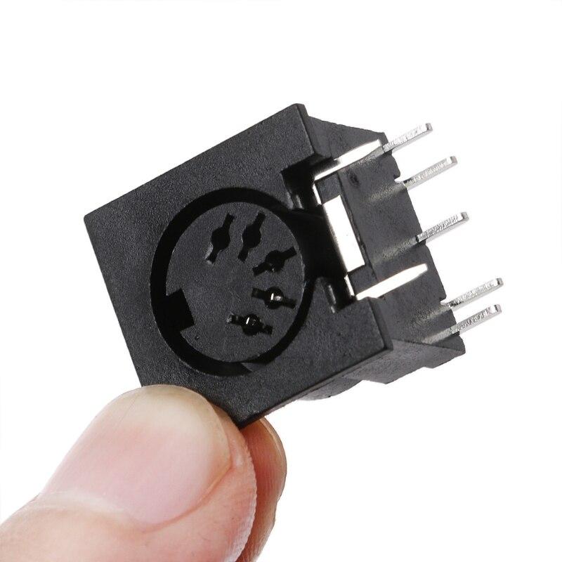 10 шт./компл. монтажный женский разъем DIN5 DIN 5-контактный разъем DS-5-01 MIDI 19QB