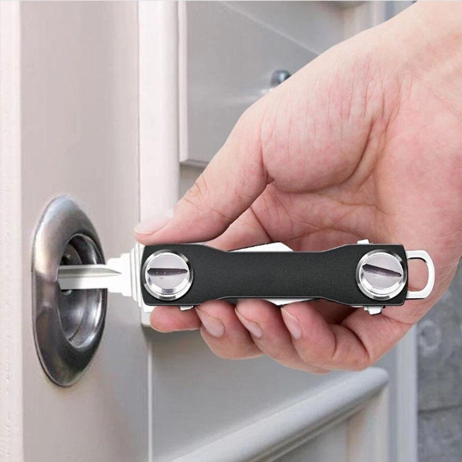 Smart key chain Mini Keychain Compact Key Decorative Holder Clip Home Storage Metal key Clip Aluminum Organizer Keychain Outdoor smart spaces storage at home