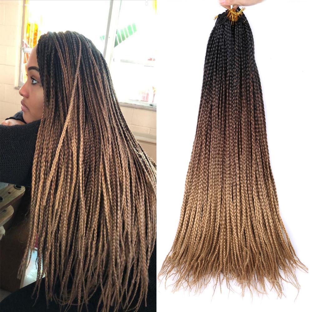 "Mtmei Hair Box Braids Hair 24"" 22 Strands Jumbo Braiding Hair Extensions Black Brown Purple Grey Pink Synthetic Crochet braids"