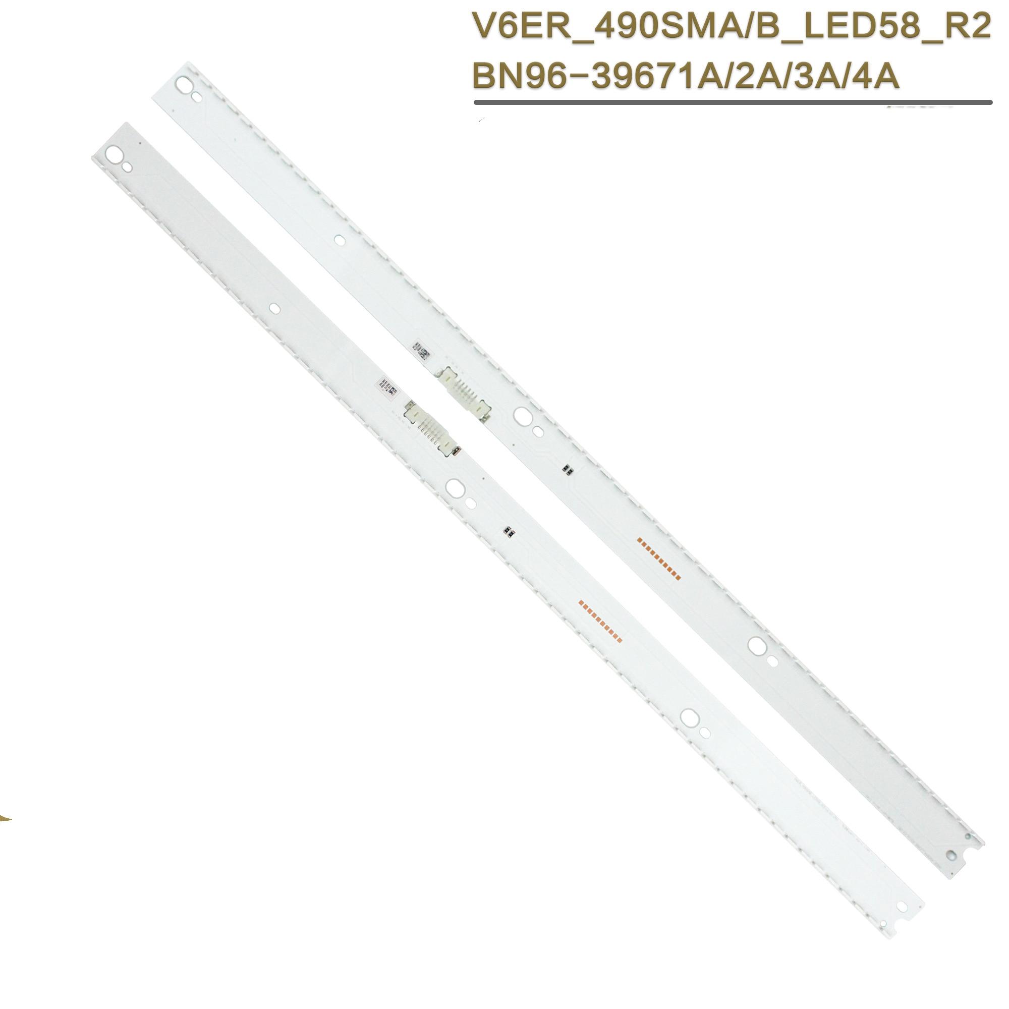 جديد 20 قطعة LED الخلفية قطاع لسامسونج UE49KU6670U UE49KU6500 UE49MU6500 BN96-39674A 39673A 39671A 39672A BN96-39880A 39882A