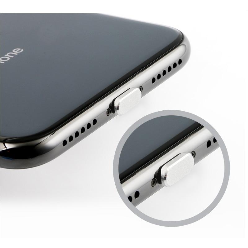 Пылезащитный чехол, алюминиевый сплав, портативное металлическое пылезащитное зарядное устройство, док-станция, пробка, крышка для iPhone 11 X XR Max 8 7 6S Plus-4