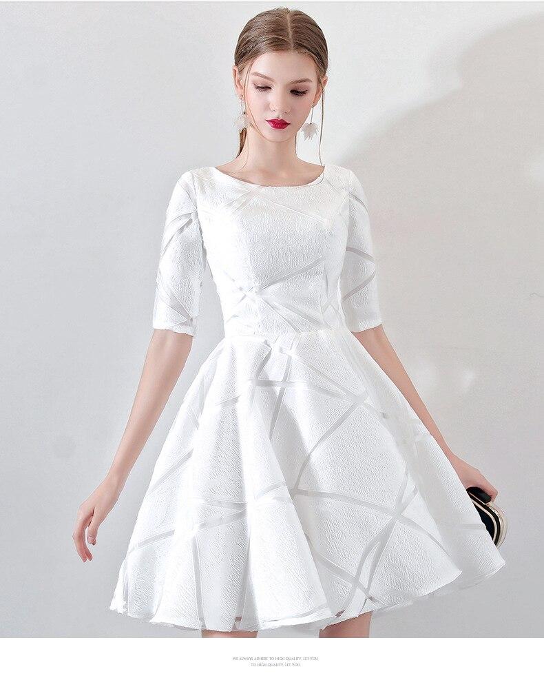 Women's short formal prom evening dress Plus size o neck half sleeve lace A line wedding party dress Bespoke Occasion Dress
