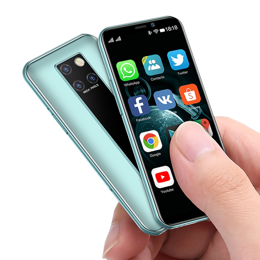 Small mini Android 9.0 smartphones cheap 4G Quad core Face ID cell phone 3GB RAM 32GB 64GB ROM 3.49