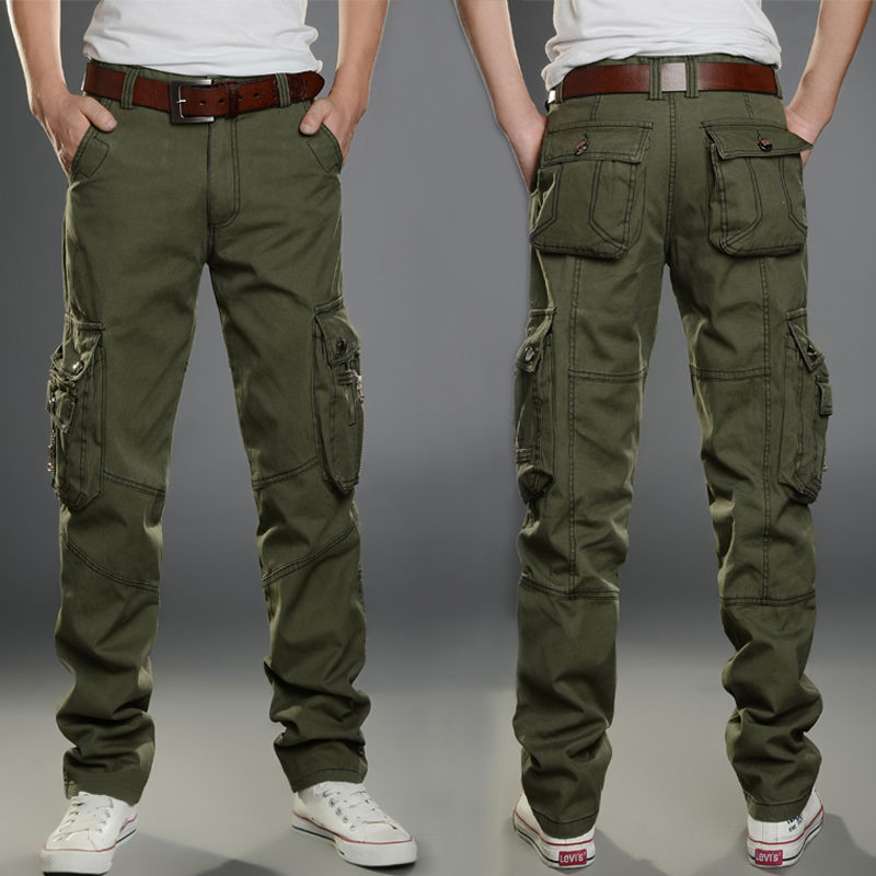 Multi-Pocket Casual Pants Men Military Tactical Joggers Cargo Pants Men's Outdoor Hiking Trekking Sw