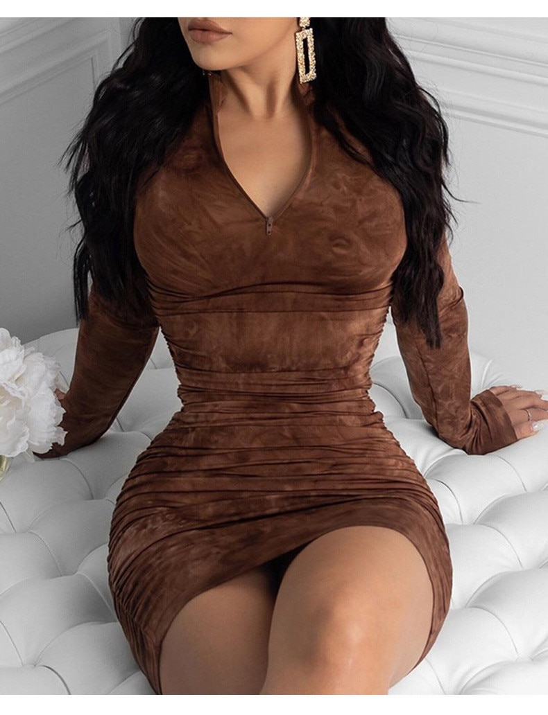 printing zipper Large dress elegant  5xl long Tight evening dresses size Fashion Sexy women's bodycon spring Pleated dress women 5xl plus size sexy dress pullover bodycon casual fashion female autumn spring home clothes long oversized dresses indian new