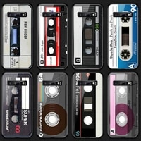 vintage magnetic tape cassette phone case tempered glass for samsung s20 plus s7 s8 s9 s10e plus note 8 9 10 plus a7 2018