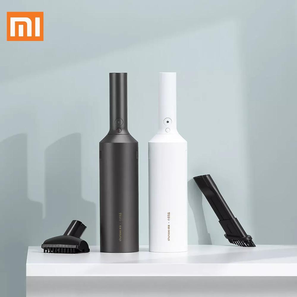 Xiaomi mijia shunzao z1 e Z1-Pro portátil handheld aspirador de pó 15500 pa sucção ciclone casa carro sem fio poeira catcher
